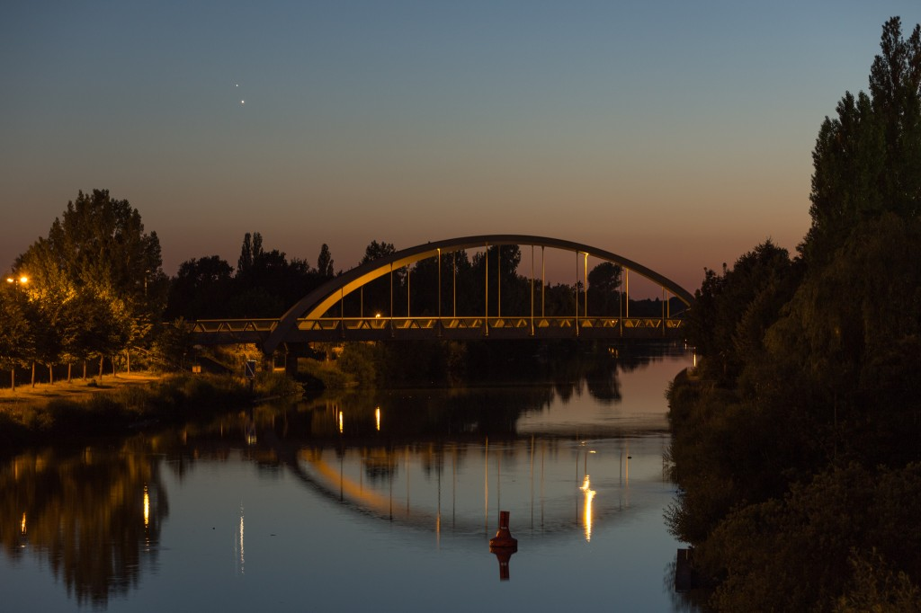 Venus und Jupiter am 30. Juni um 23:13 Uhr MESZ. (Bild: B. Knispel)