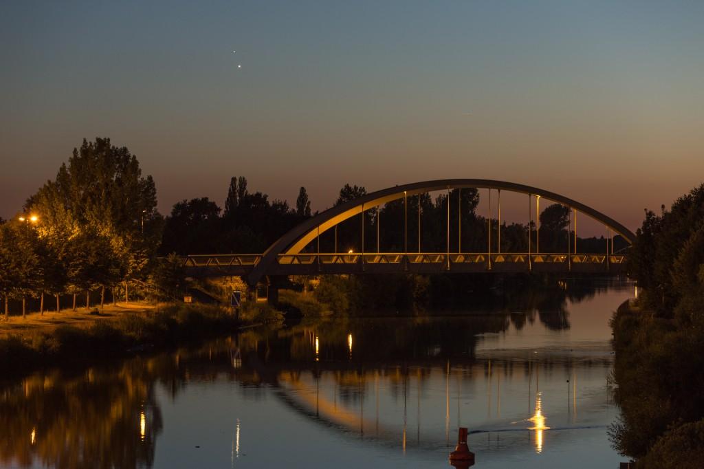 Venus und Jupiter am 30. Juni um 23:14 Uhr MESZ. (Bild: B. Knispel)