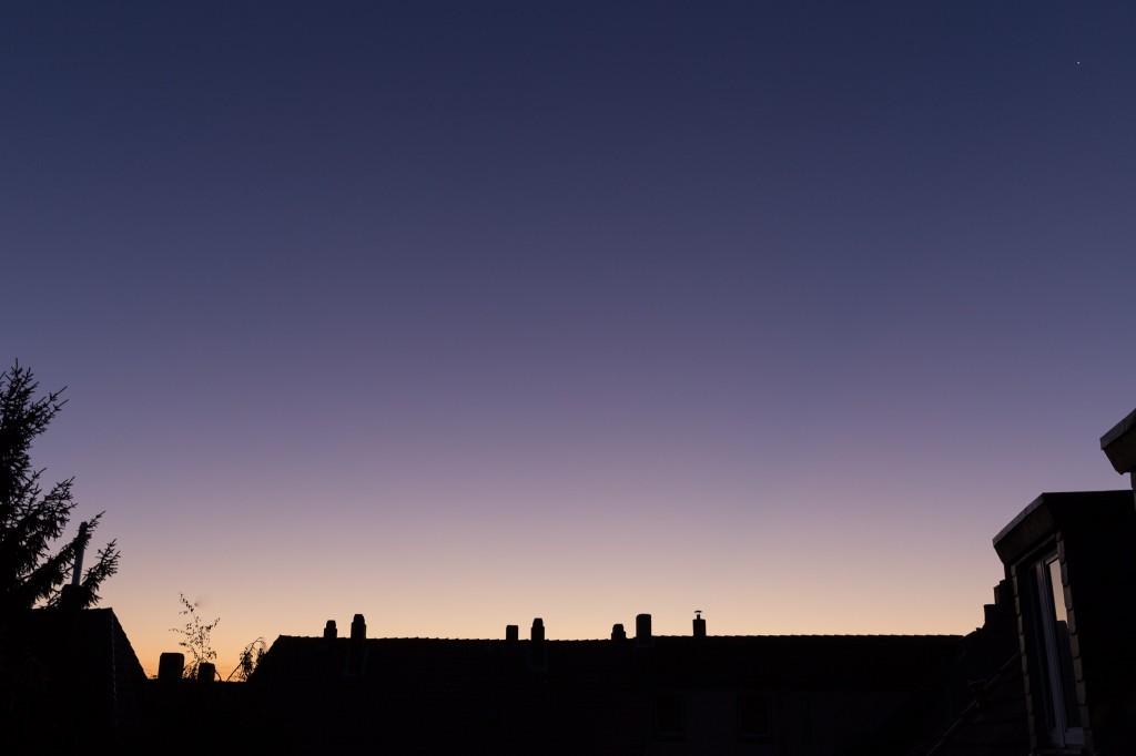 Schönes Purpurlicht um 6:52 Uhr MESZ. (Bild: B. Knispel)