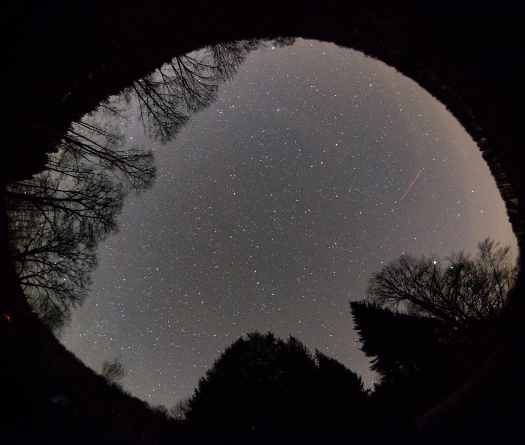 Ganzhimmelsaufnahme am ersten Beobachtungsort. Bild: B. Knispel