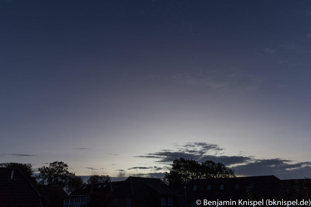 Morgendämmerung am 22.10.2017 um 7:45 MESZ. (Bild: B. Knispel)